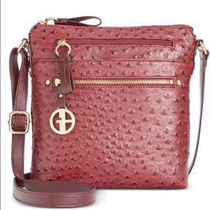 Giani Bernini ostrich print crossbody